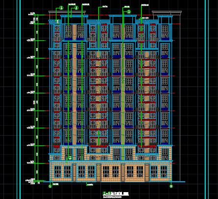 9层商住楼建筑施工图纸