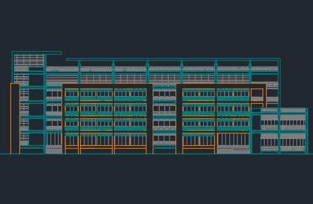 单元式住宅楼建筑设计图纸