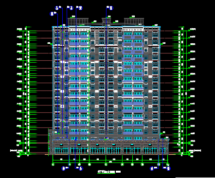 十六层住宅楼建筑施工图纸(含建筑结构水电暖)