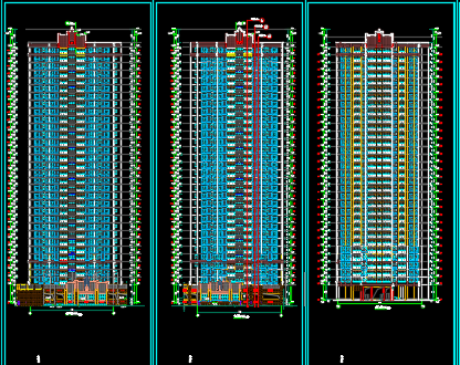 某32层高层住宅香港六合开奖直播施工图纸