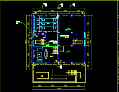 五层办公楼弱电设计图纸