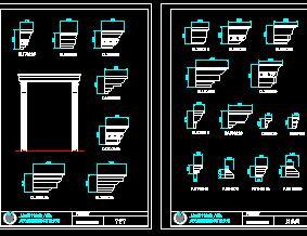欧式常用构件CAD图库