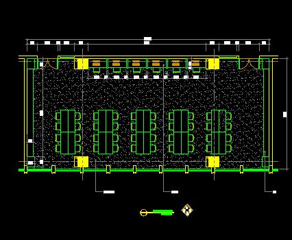 阅览室装修设计CAD详图