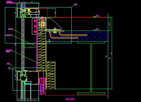 99张单元幕墙节点设计CAD详图