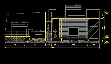100款客厅电视背景造型墙设计CAD图块
