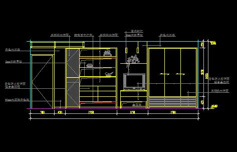 43个主人房及卧室立面装修设计方案CAD图集