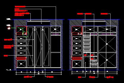 各类衣柜设计cad立面图