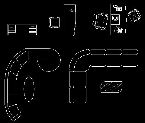 各类室内设计CAD素材图块
