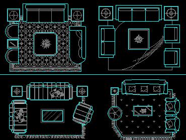 各类沙发设计CAD图块