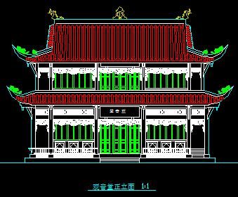 古庙建筑测绘图纸