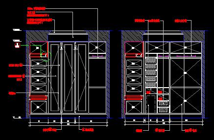 衣柜设计施工立面图