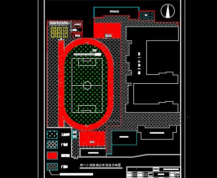 小学操场设施建筑构造设计图纸