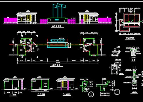 厂区传达室建筑施工图纸