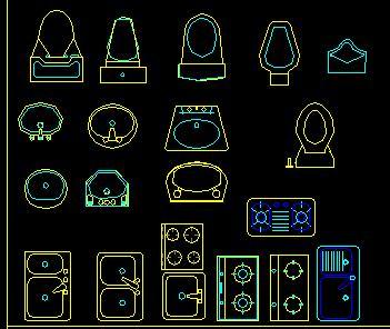 家具CAD平面图库