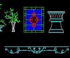 花桌图库cad图块免费下载-标注铁花、详图cad2010选中建筑慢图片