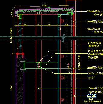 公共建筑柜台类大样节点图