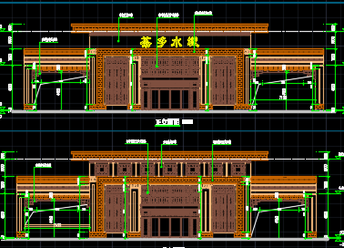 中式大门设计图纸