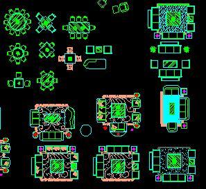 CAD沙发平面图库