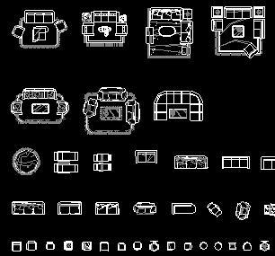 CAD精美家具平面图库