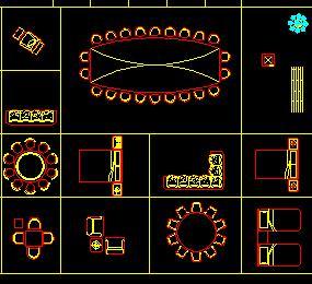 常用家具平面CAD图库