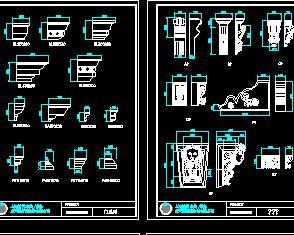 欧式门窗构件CAD详图库
