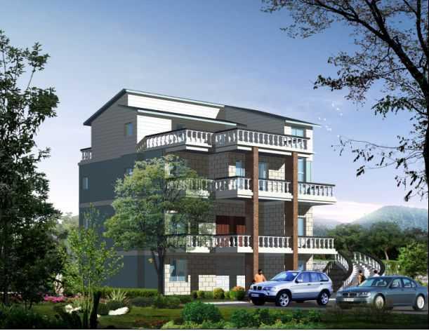 一个农村别墅设计图v农村酒店香格里拉别墅三亚图片
