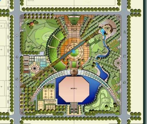 广场景观设计手绘图