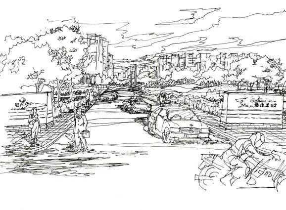 住宅小区景观手绘图免费下载 - 建筑效果图 - 土木
