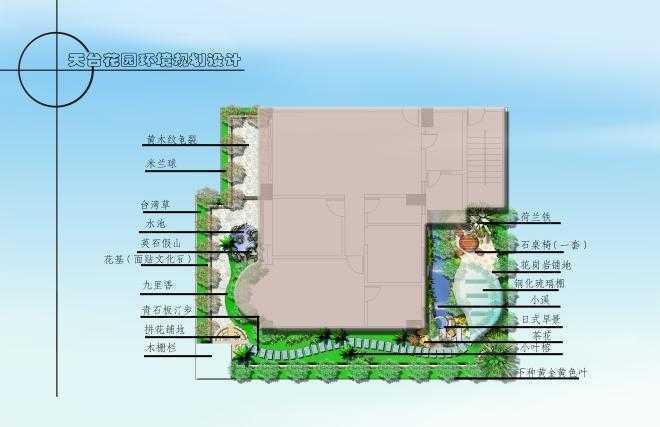 别墅花园环境规划设计彩平图