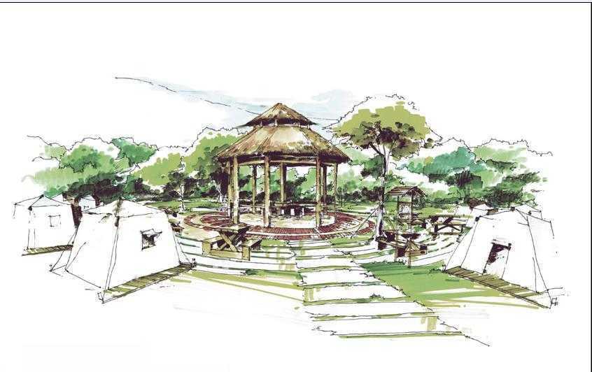 园林手绘图集合免费下载 - 建筑效果图 - 土木工程网