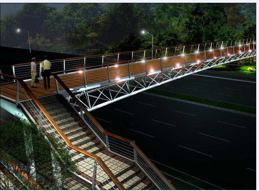 人行天桥景观设计效果图
