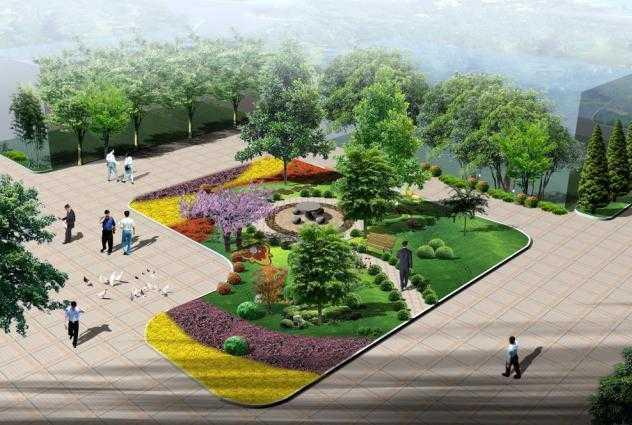 某组团绿化设计图