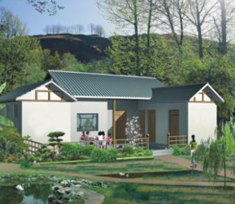 农村一层别墅建筑设计图纸