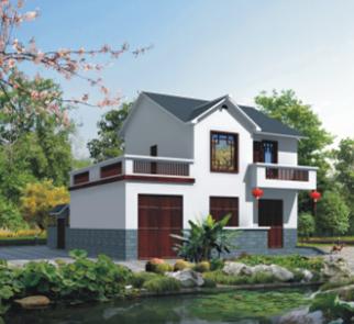 单家独院式二层别墅建筑设计图纸