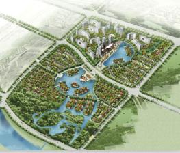 小区规划设计鸟瞰效果图