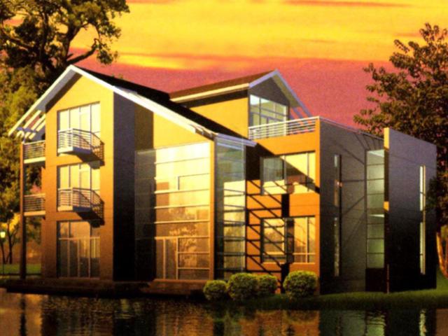 独立别墅建筑设计效果图