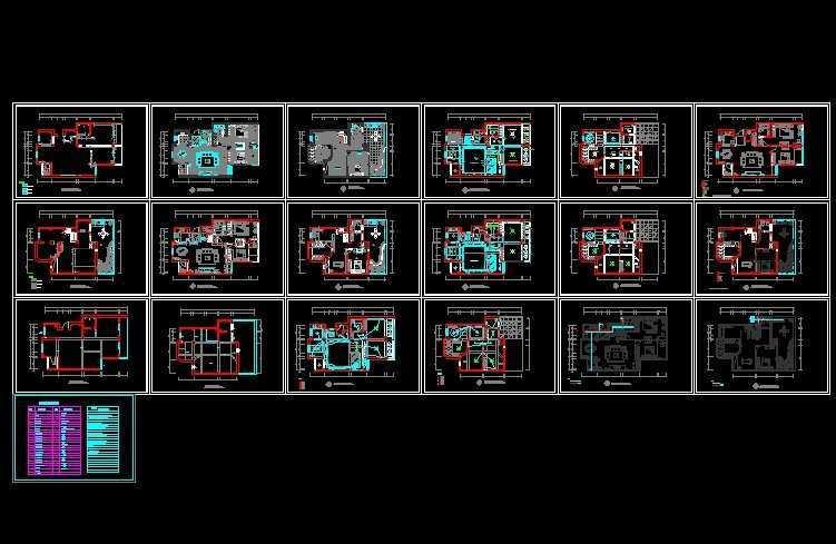 复式家装设计平面图免费下载 - 建筑装修图 - 土木