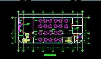 食堂室内设计平面图 免费下载 - 建筑装修图 - 土木