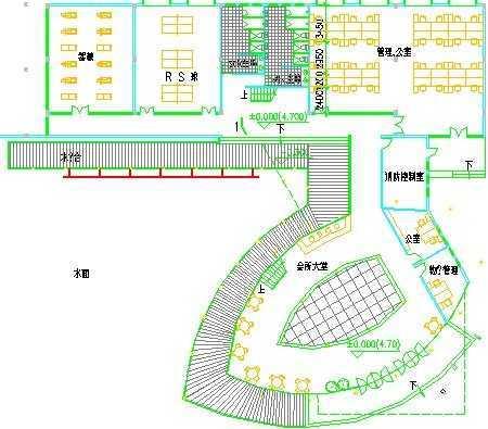 小区会所施工平面图