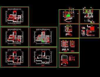 三室两厅住宅家装设计图