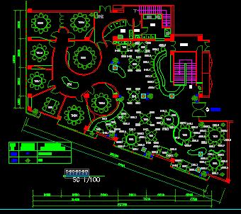 餐厅装修设计平面图免费下载会计设计费景观分录图片