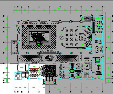 售楼部欧式风格全套装修设计图纸(含效果图)