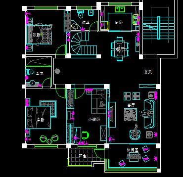一套复式楼装修设计图