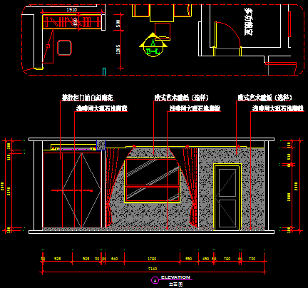 某欧式住宅楼装修设计图