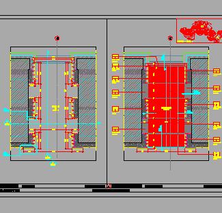 电梯厅装修设计图纸