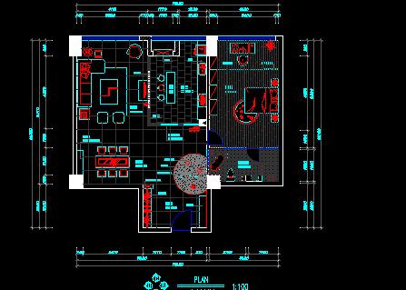 一居室样板房装修设计图