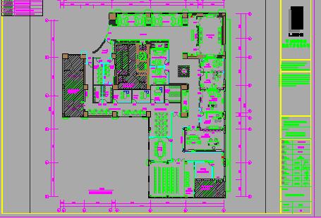 两层办公楼装修设计图纸