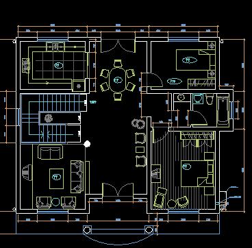 两层独院农村小别墅装修设计图纸