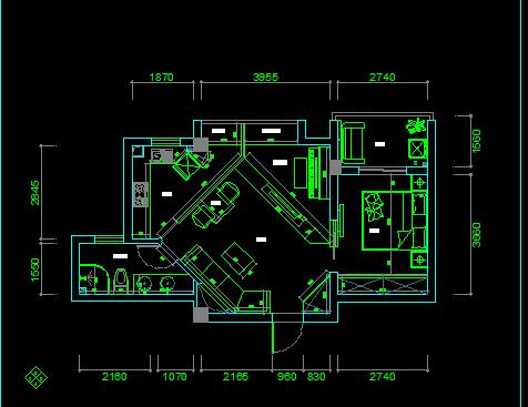 108平方米住宅装修设计图纸