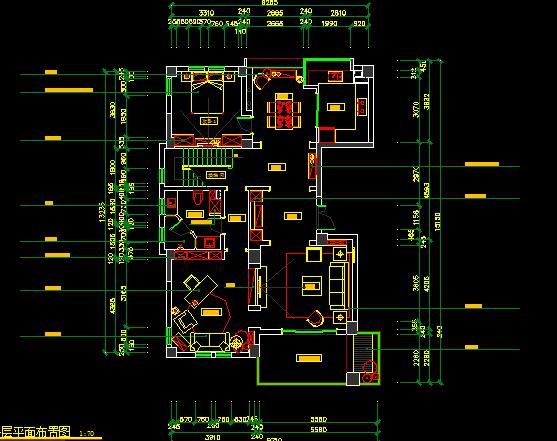 二层130平方米别墅装修设计图纸